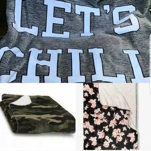 3 Victoria Secret Sherpa Blankets